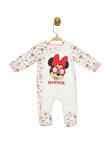 Minnie Mouse Lisanslı Bebek Patikli Tulum 17332 Ekru